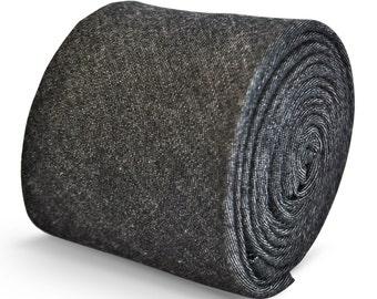 Frederick Thomas mens linen tie in dark grey FT3150
