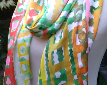 Tribal Force Collection - Hand printed abstract patterned scarves