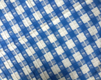 Blue tablecloth, square tablecloth, kitchen decor, table linen, kitchen linen, dust Blue Blue check, Christmas gift, mid century table cloth