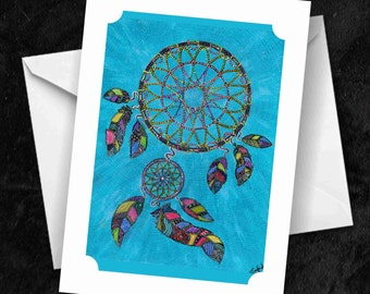 Dreamcatcher - 7x5 Folded Greetings Card
