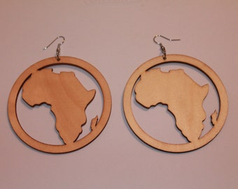 SALE!!! Natural Round Africa Earrings