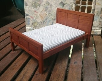 Arts and Crafts inspired Miniature Bed 1/12th scale