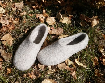 Wool felted slippers 100% natural Tyrol wool
