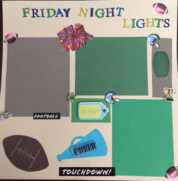 Scrapbooking: Friday Night Lights