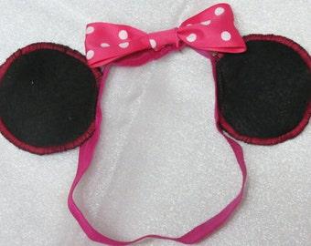 Mickey mouse miney mouse headband