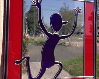 Overlay Art Glass Panel