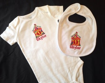 PERSONALIZED 1st Birthday Carnival/Circus Tent