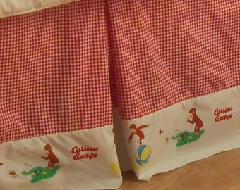 Curious George Crib Skirt