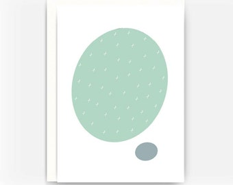 Blank Greeting Card Note Card A2 Card - Cell Theory No. 2