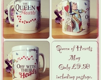 Alice in Wonderland mug Decorative Gift - Mad Hatter Tea Party prop queen of hearts