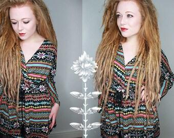 Colorful striped mini Dress