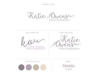 Branding Package - Photography Logo and Watermark - Handwritten Calligraphy Script - Logo Design - Watermark - Premade Marketing Kit - BPL16