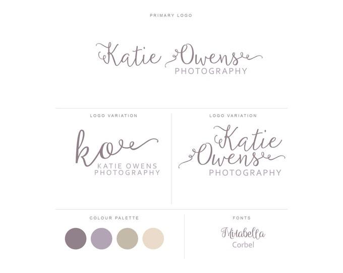 Branding Package - Photography Logo and Watermark - Handwritten Calligraphy Script - Logo Design - Watermark - Premade Marketing Kit - BPL16