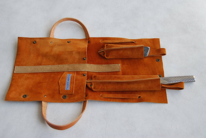 leather knife bag for chefs cooks from brkshop on etsy studio. Black Bedroom Furniture Sets. Home Design Ideas