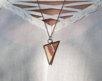 Silk Moth Triangle Necklace