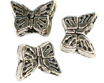 6 pcs. metal decorative butterflies mini 7.5 mm, cod. 2352