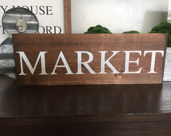 RTS Sale Market Wood Sign