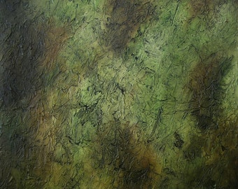 Large Abstract Acrylic Painting Textured Painting Brown Painting Painting Green Painting Black Painting Modern Art Contemporary Art