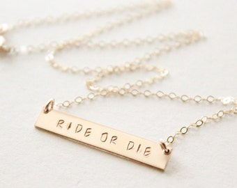 Friendship necklace etsy for Ride or die jewelry