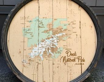 Denali National Park, AK Map Barrel End
