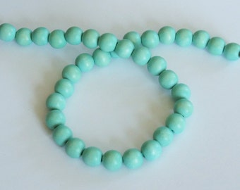 Mint Beads, Round Wood Beads, 12mm, Lightweight Beads, Fast Shipping from USA