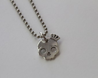 Distressed Skull Necklace