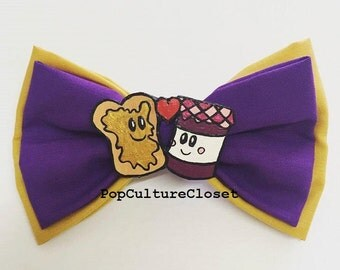 Peanut Butter Jelly Cute Hair Bow Clip - (We Go Together Like...)