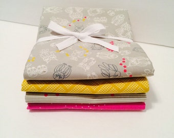 SALE!! Fat Quarter Bundle Macrame with sprinkles for Cotton and Steel- 4 Fabrics