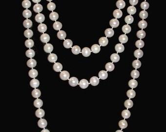 Long pearl thread
