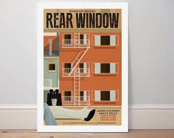 Movie poster Hitchcock 'Rear Window' colour print