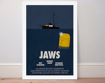 Movie poster 'Jaws' colour print