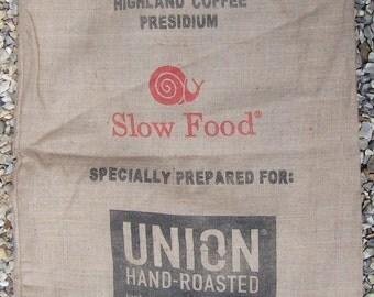 lot 2- hessian coffee sack
