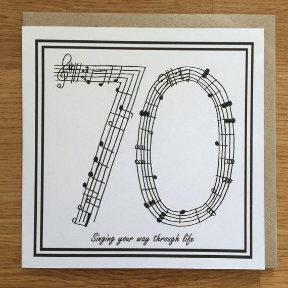 70 geburtstag karte 70 geburtstag musik. Black Bedroom Furniture Sets. Home Design Ideas