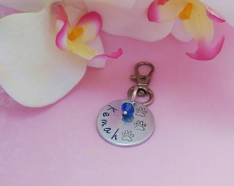 Hand stamped dog tag, pet tag, hand stamped dog jewelry, hand stamped dog charm