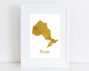 Ontario map - Canada instant download , wall art, deco