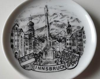 INNSBRUCK Souvenir Ceramic Trinket Pin Dish 9.5 cm from Tyrol Austria