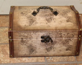 Treasure Chest with Map Design