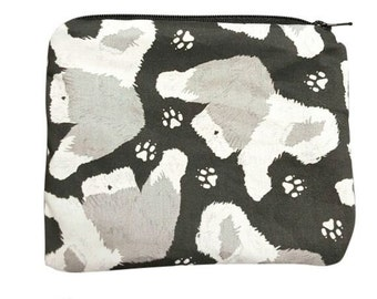 Old English Sheepdog Coin Pouch or Sandwich Bag