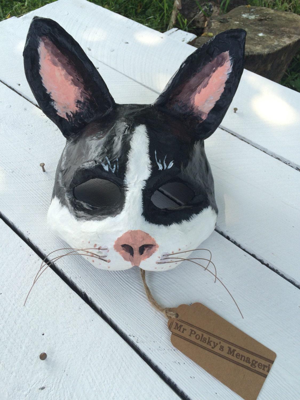 Cat mask paper mache cat mask papier mache mask - Masque papier mache ...