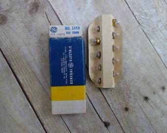 60's train bulbs, General Electric, in original box