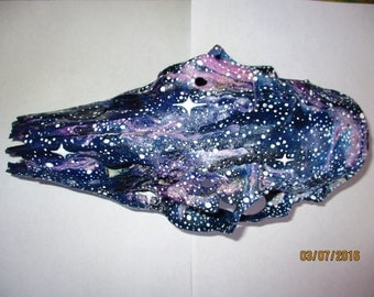 Galaxy Painted Animal Skull
