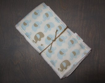 Blue Elephant CLOTH DIAPER Burp RAG