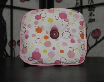 Pink Citrus Bubble Print SD BJD Knee Pillow