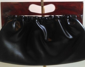Vintage Clutch Handbag, Black.