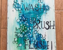 Popular Items For Bathroom Sayings On Etsy