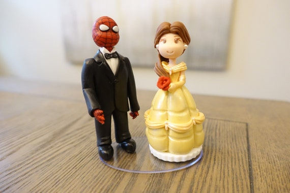 beauty and the beast cake topper and the beast wedding cake toppers 1622