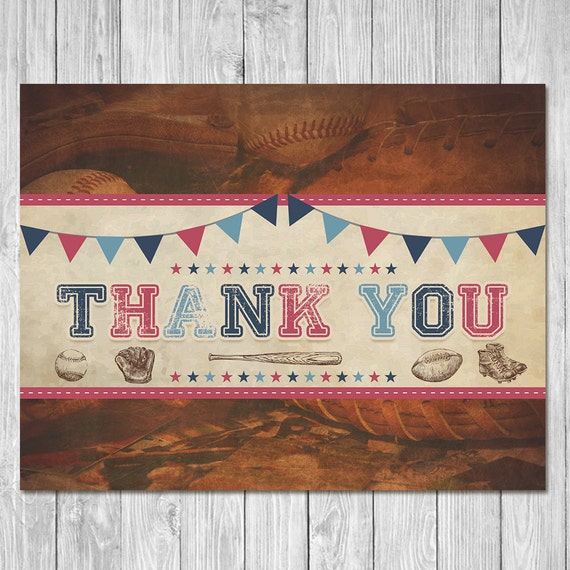 Vintage Baby Shower Thank You Cards: Items Similar To Baby Shower Thank You Cards Vintage