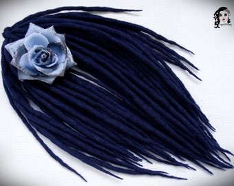 "Wool Dreadlocks Dreads "" Night Sky "" DE"