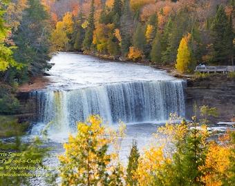 Waterfalls Upper Tahquamenon Falls Upper Peninsula Michigan Autumn Colors 2015 (5060)