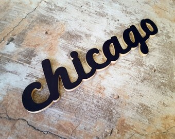 Chicago Word Cutout, Word Art, Wood Words, Any City Word, Cut out, DIY Words